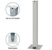 Foot Pedal Hand Sanitizer Dispenser with Floor Stand Fyp-0020-1