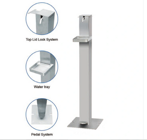 Foot Pedal Hand Sanitizer Dispenser with Tray Floor Stand Fyp-0020-2